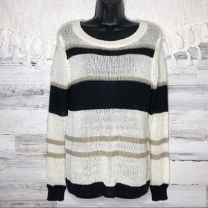 Ann Taylor knitted striped sweater